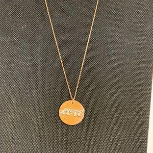 "Juicy Couture Gold ""Love"" Pendant Necklace"